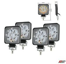 Set Of 4 Best Quality 27w 9 Led Spot Beam Mini Work Lights Lamps Offroad Tractor