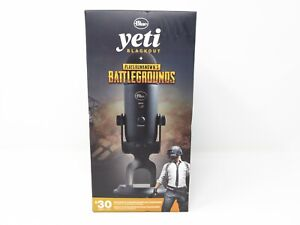 New Blue Yeti Blackout PUBG Microphone Player Unknown's Battlegrounds Sealed