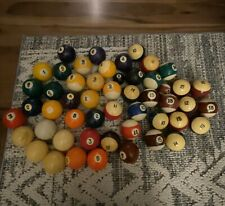 A Lot Of Incomplete Sets Of Pool Balls Games Hobbies Cue Ball 8 Ball Vintage