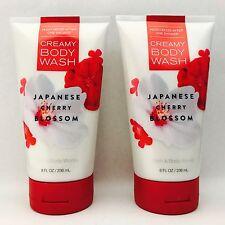 2 Bath&Body Works Japonés cerezo en flor en crema gel de baño 8 fl.oz 236 ml