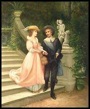 """* Jeune couple, 24""""x20"""" peinture à l'huile sur toile"""