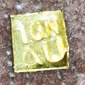 Lingot 1 grain or pur 24 carats k ct oro gold lingotin gr forme carré