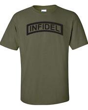 INFIDEL Marines USMC Navy Seals AIRBORNE Military Men's Tee Shirt 234