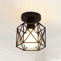 INDUSTRIAL WIRE CAGE STYLE RETRO CEILING PENDANT LIGHT/LAMP SHADE METAL HOT