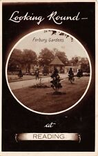READING UK THELOOKING ROUND BORBURY GARDENS~UNIQUE ROUND BROMIDE PHOTO POSTCARD