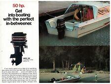 1971 50  hp Mercury Outboard Motor Ad Sheet rev has 40  hp