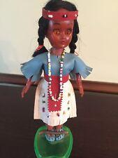 Vintage Made In Hong Kong Native American Souvenir Indian Doll