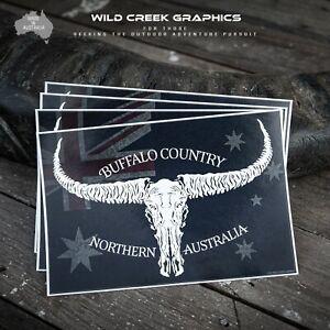 Buffalo Country Sticker Australian Outback Ringer Hunting Decal Skull Horns