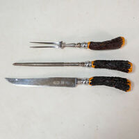 Vintage Royal Brand 3 Piece Carving Set - Sheffield England Fast Free Shipping