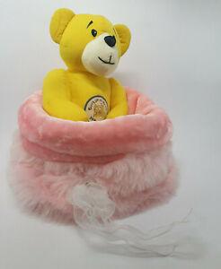 Dog Cat Pet Bed Calming Comfy Cosy Warm Furry Nest Mattress Fur Light Pink