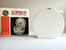 VINTAGE GE FEMINAIRE  PORTABLE  HAIR DRYER CASE. HD-8 with box.