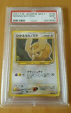 PSA 9 Mint Shining Noctowl Holo Japanese Neo 4 2001 Pokemon Card!