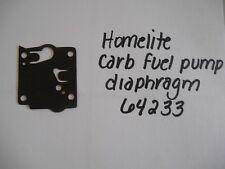 HOMELITE NEW CARB FUEL PUMP DIAPHRAGM    P/N 64233  FITS:  1050, 1130G, XL-4000