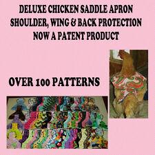 1 SUPER DELUXE Chicken Saddle Apron Hen Jacket WING BACK SHOULDER POULTRY