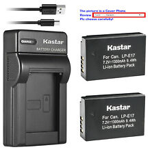 Kastar Battery Slim USB Charger for LPE17 Canon EOS RP Mirrorless Digital Camera
