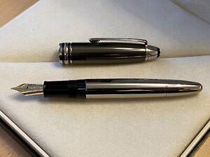 Montblanc 146 LeGrand Hematite & Platinum Fountain Pen
