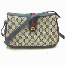 Gucci Shoulder Bag  Navy Blue PVC 602694