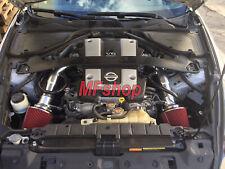 Black Red For 2008-2013 Infiniti G37 3.7L V6 Cold Air Intake System Kit