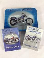 NEW 2 packs Harley Davidson Play Cards In Limited Edition Tin