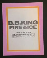 BB King Fire & Ice Original Concert Handbill Flier Boston Tea Party 1969