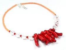 Ct 325 Coral Crystal Stone Jewelry Necklaces Lariat Gemstone Birthday Gifts sale