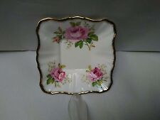"Vintage Royal Albert ""American Beauty"" Small Square Dish ~ Excellent Condition!"