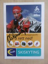 Ole Einar Björndalen Autograph Signed 10x15 cm Postcard