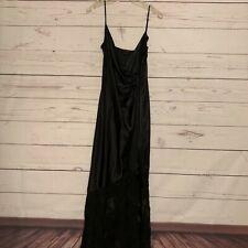Vintage Black Peignoir Robe Nightgown Negligee Gown Kama Sutra Lotuswear Small