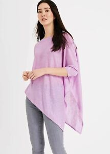 Phase Eight Melinda Linen Knit Tunic Top Lavender S RRP59
