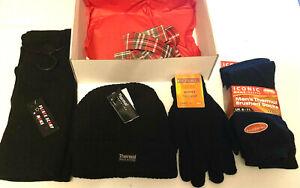 Thermal Socks Hats Gloves Scarves Christmas Hamper Gift Men Winter Warm Boxed