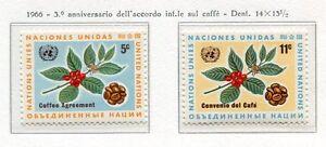 19069) UNITED NATIONEN (New York) 1966 MNH Neu Kaffee