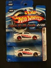 """2006 HOT WHEELS -- TOYOTA """"AE-86 COROLLA"""" -- LOT OF 2 -- FTE -- SHORT CARD!!!"""