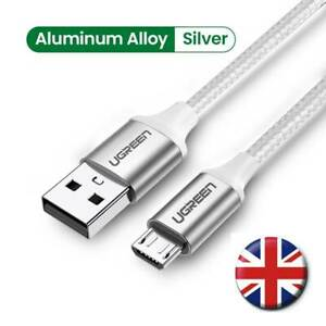 UGREEN USB A to Micro B Cable 3A Android Mobile Phone Fast Charging Charger Lead