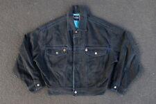 Vintage Versace Jeans Couture Denim Jean Jacket Size M Black Coat Yeezy Supreme