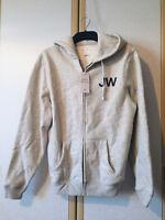 Jack Wills Mens Maridon Grey Cotton Blend Full Zip Hoodie Size M BNWT