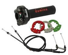 COMANDO GAS RAPIDO DOMINO XM2 3 GHIERE + kit cavi dedicati YAMAHA R6  + MANOPOLE