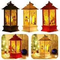 LED Windlicht Satiniertes Glas Timer Elch Tannen Rose Weihnachtsdeko Melinera®