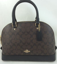 New COACH F37233 F58287 Sierra Signature Dome Satchel Handbag Purse Bag Brown