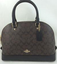 New COACH F27584 F37233 Sierra Signature Dome Satchel Handbag Purse Bag Brown