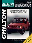 Chilton Repair Manual Suzuki Samurai, Sidekick & Tracker, 1986-98 #66500