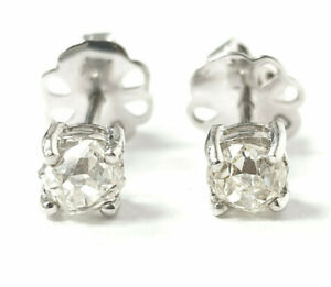 Ladies Diamond White Gold Studs Oval Cut 18ct Certificated Butterfly Backs
