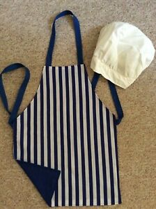 Childs apron age 3-6 with adjustable chefs hat - handmade