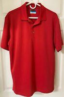 PGA Tour Airflux Men's Shirt Polo Golf Red Short Sleeve. Size M. 100% Polyester