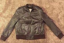 VINTAGE BERMAN'S Bomber Flight Leather Jacket LINED Size 42
