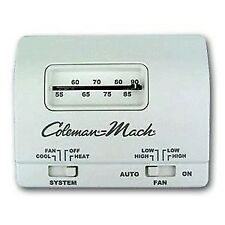 White 12V 6 Wire Analog Heat/Cool Thermostat for Coleman Mach ACs