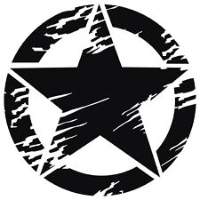 Distressed USA Army Military Star Vinyl Decal Sticker for Jeep Ford Dodge Truck