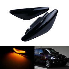2x Jaune Clignotants Répétiteur côté indicateur noire à BMW X5 E70 X6 E71 E72 M