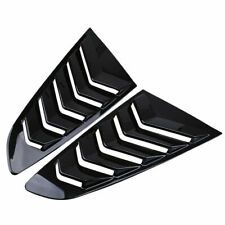 Pair Carbon fiber look Side Window Scoop Louver Cover For Ford Mustang Fastback