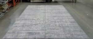 SILVER / IVORY 10' X 14' Damaged Binding Rug Reduced Price 1172580658 EVK256S-10