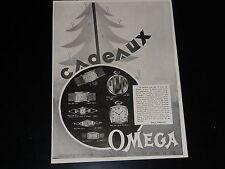 PUBLICITE -  OMEGA  - MONTRE  - 1930 - PRESSE - ADVERTISING